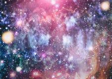 Planeter, stjärnor och galaxer i yttre rymd som visar skönheten av utforskning av rymden Beståndsdelar som möbleras av NASA - Bil vektor illustrationer