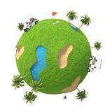 Planetgolf 3D Royaltyfri Fotografi