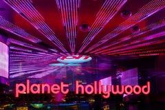 Planethollywood-Rücksortierung und Kasino Stockbilder