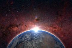 Planetjord, beståndsdelar av denna bild som möbleras av NASA Begrepp Arkivfoton