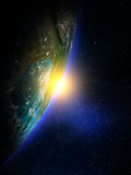 Planetjord från utrymme Arkivfoton