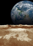 Planetjord i utrymmet Arkivfoto