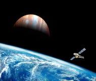Planetjord i utrymmet Fotografering för Bildbyråer