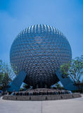 Planetjord med waterfountain - Walt Disney World Royaltyfri Bild