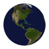 Planetjord. Nord och Sydamerika. Arkivfoto