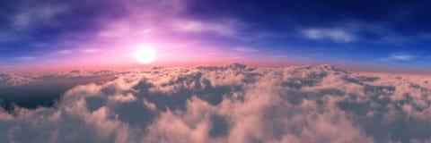 Planetjord på soluppgång från omlopp stock illustrationer