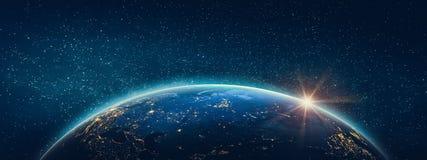 Planetjord - Ryssland Beståndsdelar av denna avbildar möblerat av NASA vektor illustrationer