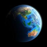 Planetjord som isoleras på svart Royaltyfria Foton