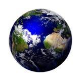 Planetjord som isoleras på vit bakgrund, del av solsystemet Royaltyfri Foto