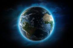 Planetjordillustration Fotografering för Bildbyråer