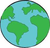 Planetjordsymbol Arkivfoto