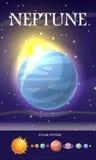 PlanetNeptun i solsystem Royaltyfri Fotografi
