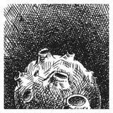 Planetoid нарисованное рукой Стоковые Изображения