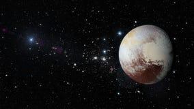 PlanetPluto i yttre rymd Beståndsdelar av denna avbildar möblerat av NASA Royaltyfri Fotografi