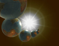 The Planets. The Games of Planets stock illustration