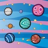 Planets royalty free illustration