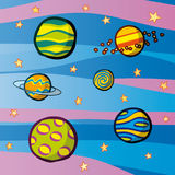 Planets. Nice illustration with colorful planets Royalty Free Stock Images