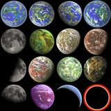 Planets. 3D realistic planet illustration collection Stock Image