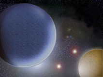 Planets. Two planets in a space Stock Photo
