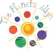 The Planets Align Royalty Free Stock Images