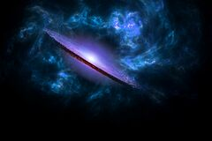 Free Planets And Galaxy, Cosmos, Physical Cosmology Royalty Free Stock Image - 176412126
