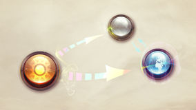 Planets buttons Royalty Free Stock Image