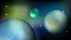 Planets in Cosmos Royalty Free Stock Photography