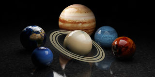 Planets.. 3d illustration of Planets Stock Image