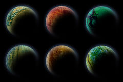 Planets in deep dark space. Stock Photography