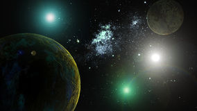 Planets in deep space Stock Image