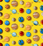 Planets flat universe pattern Stock Photos