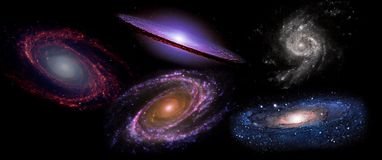 Planets and galaxies, science fiction wallpaper. Beauty of deep space. Billions of galaxies in the universe Cosmic art background Stock Photography