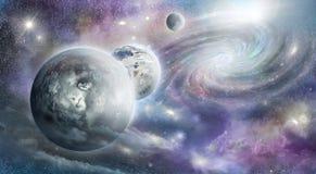 Planets galaxy and nebula Royalty Free Stock Photo