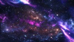 Planets and galaxy, science fiction wallpaper. stock photo