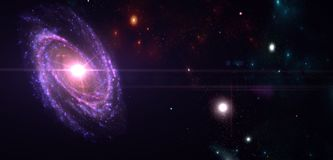 Planets and galaxy, science fiction wallpaper. Beauty of deep space. Billions of galaxy in the universe Cosmic art background royalty free illustration
