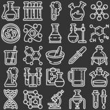 Planets icon set, outline style royalty free illustration