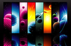 Planets illustration Stock Image