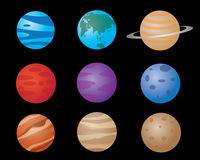 Planets illustration design Stock Image