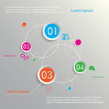 Planets infographic four options Stock Image