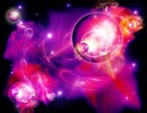 Planets and nebula Stock Image