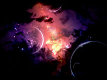 Planets and Nebulas Royalty Free Stock Photos