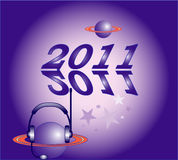 Planets and  New Year Stock Image