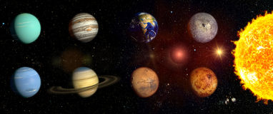 Planets of our solar system Royalty Free Stock Photo