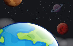 Planets in the outerspace Stock Image