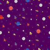 Planets rockets stars Stock Photo