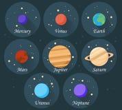 Planets_set Zdjęcia Royalty Free