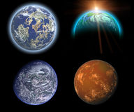 Planets set Royalty Free Stock Images