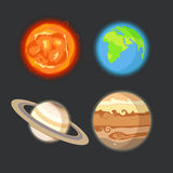 Planets set Stock Photos