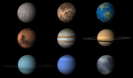 The Planets of the Solar System Stock Images
