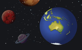 The planets of the solar system Royalty Free Stock Image
